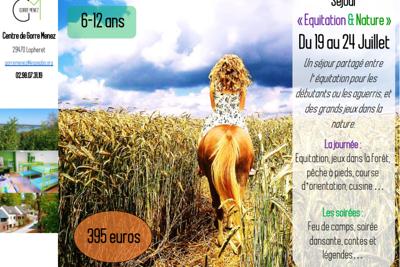 Colonie de vacances « Equitation & Nature » du 19 au 24 Juillet dans le Finistère (29)