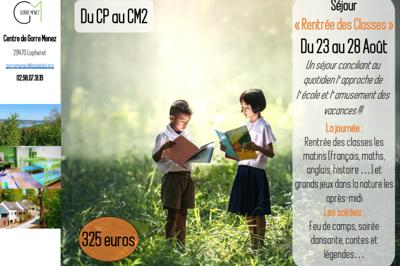 Colonie de vacances « Rentrée des Classes » du 23 au 28 Août dans le Finistère (29)