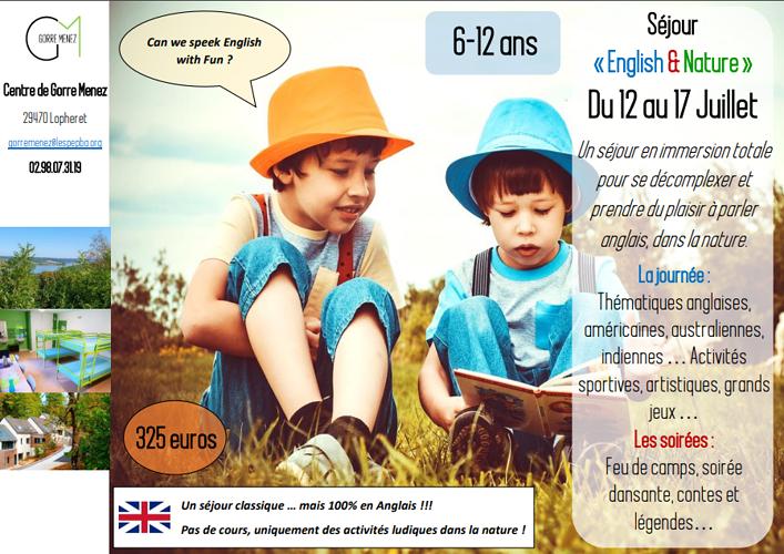 Colonie de vacances« English & Nature » du 12 au 17 Juillet dans le Finistère (29) 0