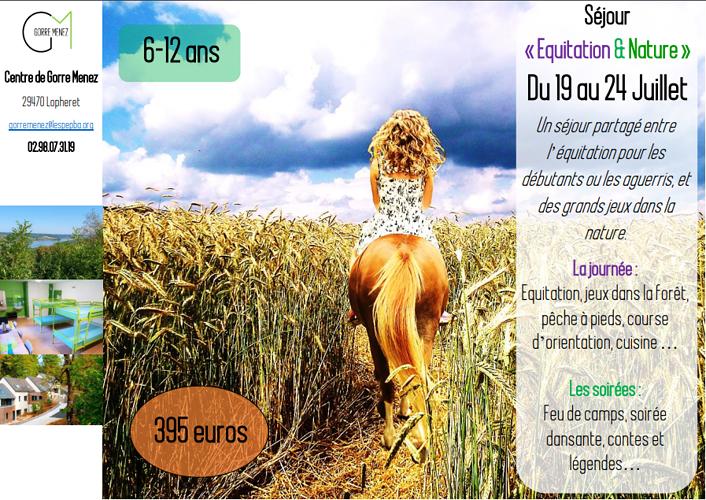 Colonie de vacances « Equitation & Nature » du 19 au 24 Juillet dans le Finistère (29) 0